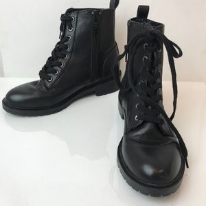 {Steve Madden} Officer Black Combat Boots
